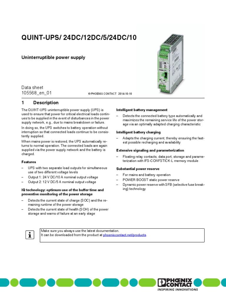 24v ups pdf power supply battery charger rh scribd com  quint-ups/24dc/24dc/20 wiring diagram