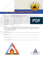 Fire Safety Check Sheet