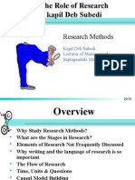 01 Role of Research- Kapil Deb Subedi