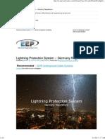 EEP - Lightning Protection System - Germany Regulations