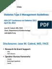 DIABETES MELLITUS Guidelines Review