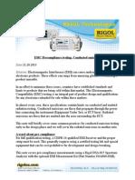 DSA-815 EMC Conducted Emissions