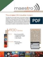 M100 3G Modem Datasheet
