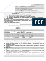 DA 185 4A2 - Exporter Registration - External Form