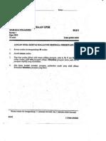 Percubaan UPSR Kulaijaya - Ogos 2015 - BI Kertas 1