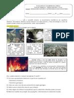 Ficha Trab Catastrofes Naturais