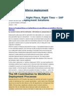 SAP HCM Workforce Deployment