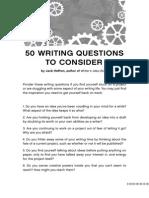 50 preguntas que debes hacerte a la hora de escribir