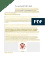 Basics of Employee Provident Fund