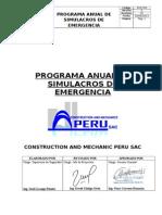 Programa Anual de Simulacros