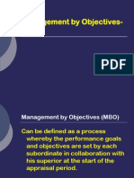 Management by Objectives-MBO
