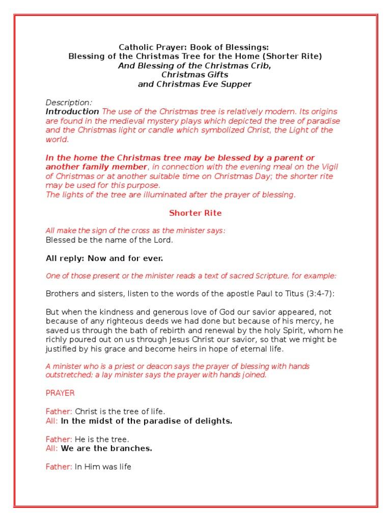 Christmas Blessing Prayer.Christmas Liturgy At Home Blessing Christmas