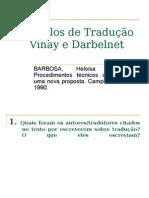 Barbosa Modelos de Tradução Vinay Darbelnet