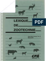 Lexique de Zootechnie EF