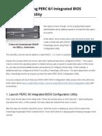 Create RAIDU Sing PERC6i Integrated BIOS Configuration Utility