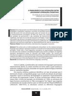BRONCKART, Jean-Paul - A Problemática Das Interações Entre Linguagem e Operações Cognitivas