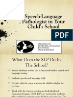 the role of an slp in the school setting