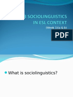Sociolinguistics in Esl Context
