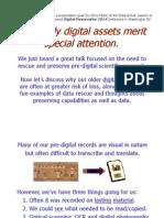 Digital Preservation 2014 Data Rescue