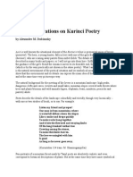 Some Observations on Kurinci Poetry