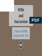 Wills and Succession Forms of Wills
