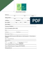 Elite Patient Intake Form 2013