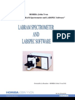 Training LabRAM Spectometer and Software