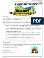 Holiday Homework - Grade 04