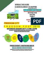 Freedom Fest Flyer & Letter