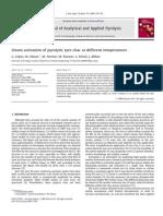 Activacion de Vapor de Carbon Pirolitico a Diferentes Temperaturas