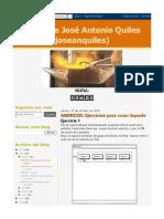 Ejercicios Para Crear Layouts - José Antonio Quiles