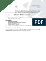 180815 HR & Admin Coordinator