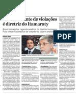Itamaraty silencia diante das violações