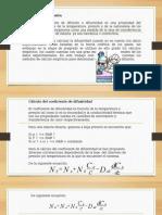 Predicción del coeficiente de Difusion