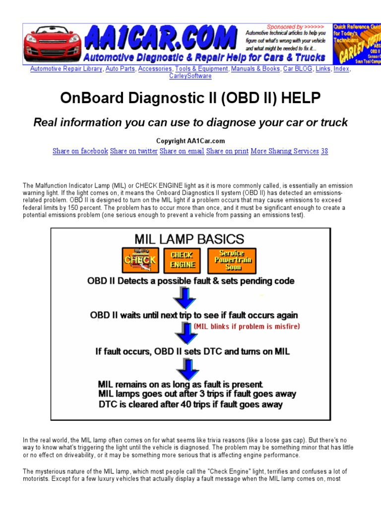 on board diagnostic ii obd ii rotating machines machines rh scribd com PID Codes PID Codes