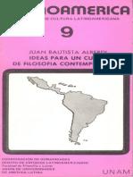 IDEAS PARA UN CURSO DE FILOSOFIA CONTEMPORANEA