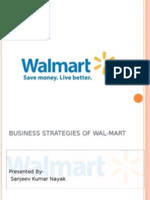 Business Strategies of Wal- Mart   Walmart   Retail