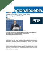 17-08-2015 RegionalPuebla.mx - Inaugura RMV Laboratorio Nacional de Supercómputo en La BUAP