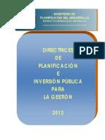 Directrices de Planificacion2012