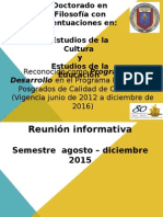 Reunión Inicio Semestre Ago-dic 2015 Doctorado