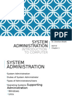 System Administration- Introduction