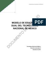 MODELO DE EDUCACIÓN DUAL DEL TECNOLÓGICO NACIONAL DE MÉXICO