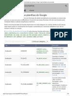 Lista de Funções Das Planilhas Do Google - Ajuda Do Editores Do Documentos