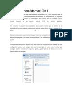 Configurando 3dsmax 2011