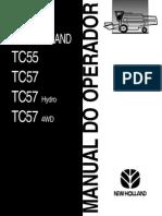 Manual Operador Colhedora New Holland TC 55 e TC 57