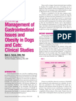 Dietary Management of Gastrointestinal Issues and Obesity In