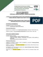 Assuntos Provan de Conhecimentos RGV 2015.1