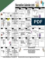Terra Losa Recreation Calendar