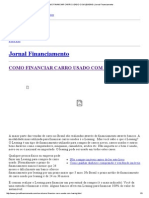 Como Financiar Carro Usado Com Leasing _ Jornal Financiamento