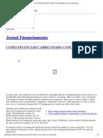 Como Financiar Carro Usado Com Leasing _ Jornal Financiamento